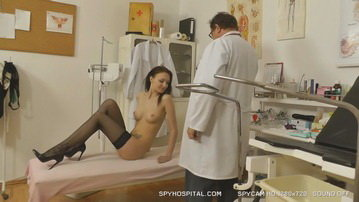 Hospital hidden cam clip of a gorgeous leggy babe