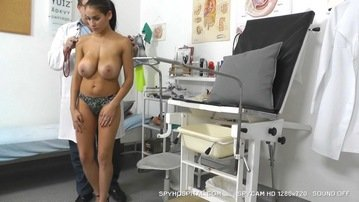 Real breast exam on a woman with ugly saggy titties 2 4