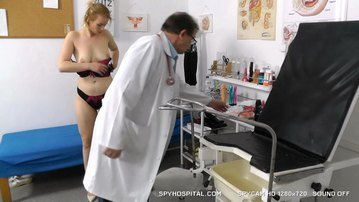 Tall blonde gyno check-up caught with spy cam