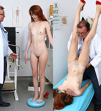 Tags: gyn, gynecological, gynecology, medical, doctor, pussy, vagina, rectal, enema, clinic, palpation, redhead, old and young, dirty doctor, doctor patient, reality