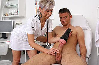 Free Handjob From His Female Doctor Movie