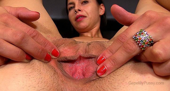 Clea pussy gape HD video