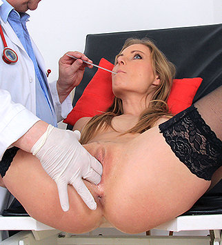doctor, enema, douche, hd, patient, blonde, pussy expander, pelvic exam, physical exam, gynecologist