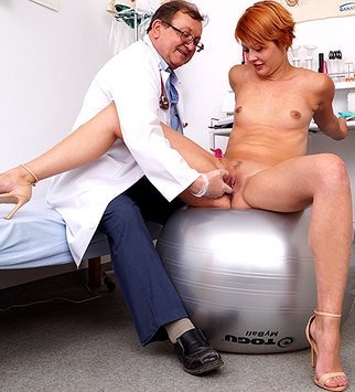 Tags: gyn, gyno, gynecological, gynecology, medical, doctor, bizarre, examination, check up, vagina, hospital, clinic, speculum, patient, cervix, internal pussy, redhead, pussy expander, pelvic exam, role play, old and young, h