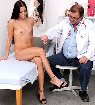 Tags: gyn, gyno, gynecological, gynecology, medical, doctor, exam, check up, vagina, hospital, physical, speculum, patient, cervix, internal pussy, brunette, pelvic exam, physical exam, daddy, old and young, small tits, dirty d