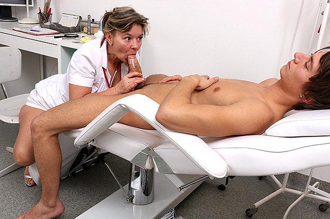 Doctors Steamy Handjob Sucking