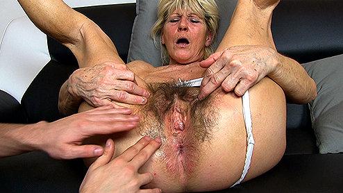 Cock gagging milf