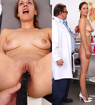 Tags: gyn, gynecological, gynecology, doctor, bizarre, extreme, exam, check up, pussy, vagina, enema, douche, close ups, up close, hospital, clinic, speculum, internal pussy, brunette, pelvic exam, physical exam, daddy, old and