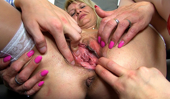 image Filthy nurse pussy spreading and masturbation