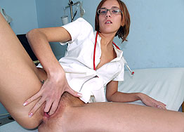 Sexy nurse Jane speculum play
