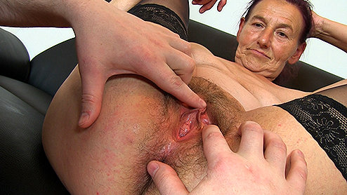 ... Hairy Spread Wet Pussy And Asshole After Fucking Both Holes. Granny