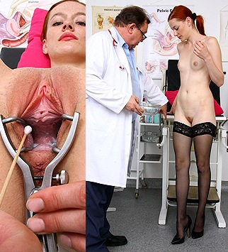 Tags: gynecology, medical, doctor, fetish, bizarre, exam, check up, clinic, redhead, skinny, pelvic exam, old and young, high heels
