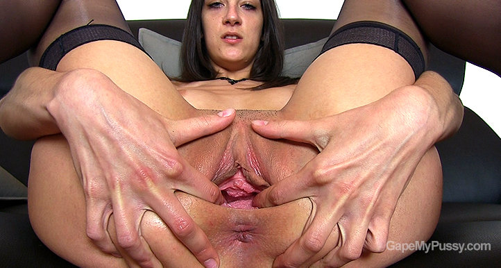 Miky Love pussy gape HD video