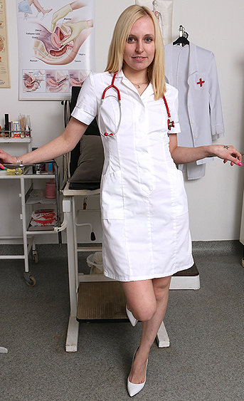 Naughty nurse Mina pussy spreading HD video