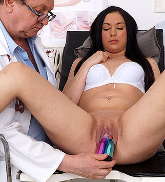 Tags: gyn, gynecological, gynecology, medical, doctor, bizarre, exam, vagina, douche, close ups, clinic, speculum, pelvic exam, role play, daddy, old and young