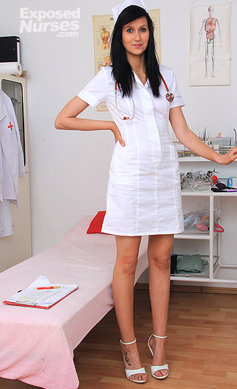 Naughty nurse Nella pussy spreading HD video
