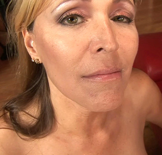 cougar blonde blowjob