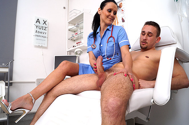Doctor jerks young boy gay sex when it 10