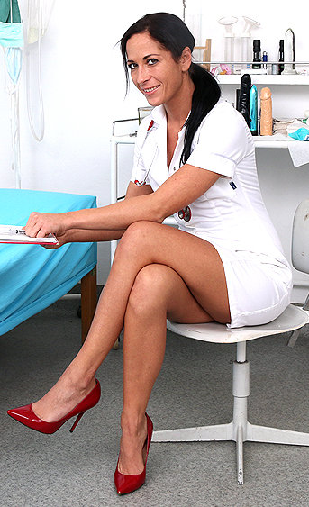 Naughty nurse Ronja pussy spreading HD video