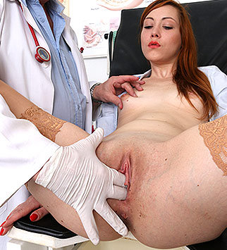 Tags: gyn, gynecological, gynecology, medical, examination, pussy, vagina, hospital, clinic, specula, internal pussy, redhead, pelvic exam, old and young, high heels, natural tits, dirty doctor