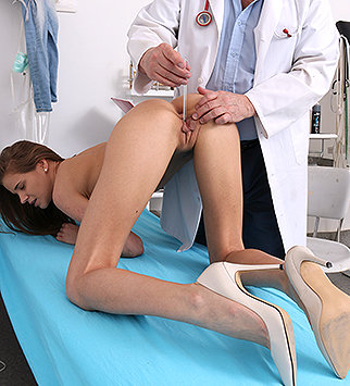 Tags: gynecological, gynecology, doctor, bizarre, extreme, exam, enema, douche, hospital, clinic, speculum, patient, cervix, pussy expander, pelvic exam, daddy, old and young, high heels, small tits, dirty doctor, obgyn, hot le