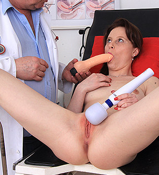 Tags: gyn, gyno, gynecological, gynecology, doctor, check up, rectal, enema, douche, hospital, clinic, physical, speculum, specula, cervix, internal pussy, pussy spreader, pelvic exam, daddy, old and young