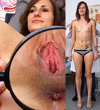 Tags: gyn, gyno, gynecology, medical, bizarre, examination, check up, vagina, rectal, douche, up close, hospital, clinic, speculum, brunette, skinny, pelvic exam, old and young