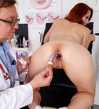 Tags: gyn, gynecological, gynecology, doctor, exam, check up, vagina, hospital, clinic, speculum, cervix, redhead, pelvic exam, old and young, high heels, obgyn