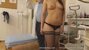 Naked female patient secretly videotaped with spy cam