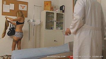 Hospital hidden camera gyno exam room