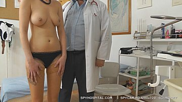 Naked girl physical exam caught on hidden cam at doctor