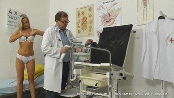 Clinic hidden camera caught sporty blonde ob gyn exam