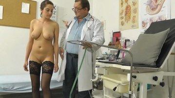 Teen beauty gots her big tits examined hospital hidden cam