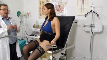 Big tits stockings brunette 2nd doctor exam voyeur footage