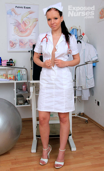 Naughty nurse Angelica pussy spreading HD video
