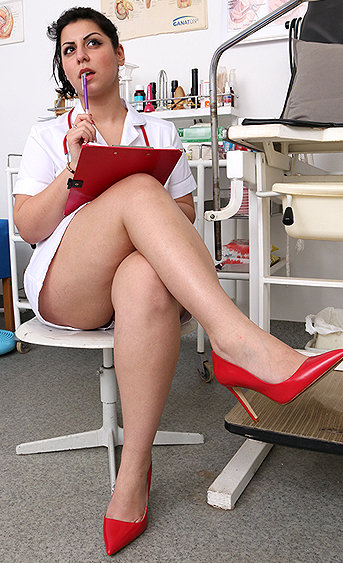 Naughty nurse Azra pussy spreading HD video