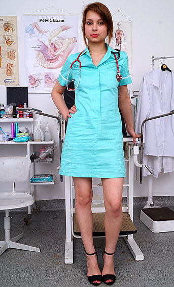 Naughty nurse Gia pussy spreading HD video
