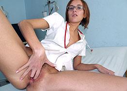 Sexy nurse Jane speculum play
