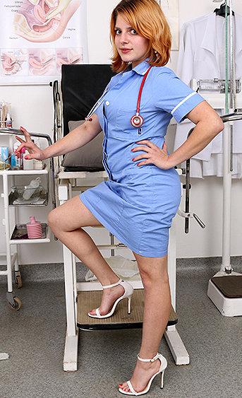 Naughty nurse Lola Fauve pussy spreading HD video