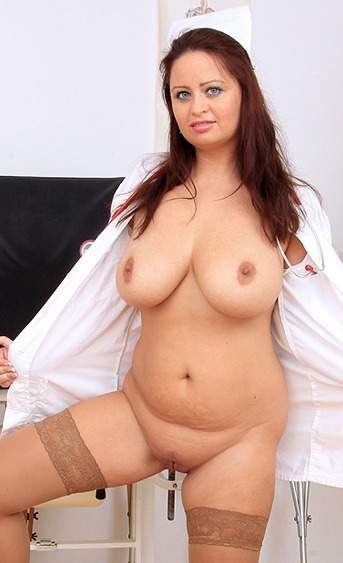 Naughty nurse Sirale pussy spreading HD video